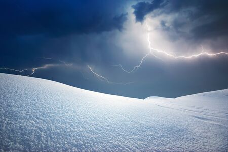 Snow hills. Composition of nature. Stock Photo - 10998504