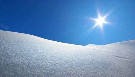 snow field: Snow hills. Composition of nature.