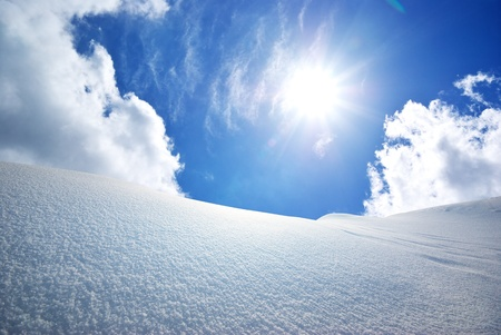 Snow hills. Composition of nature.  Stock Photo - 10998505