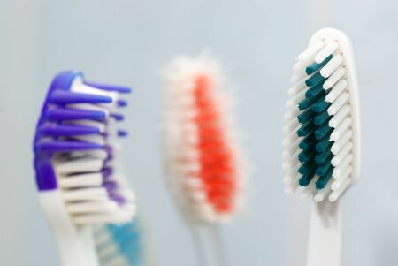 Tooth brush. Shallow depth-of-field. photo