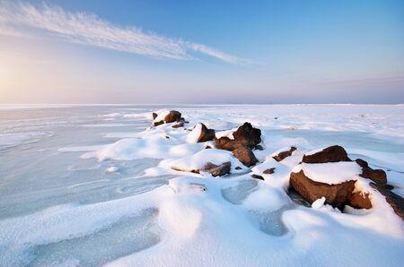 Winter landscape. Composition of nature. Stock Photo - 14040385