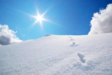 Snow hills. Composition of nature.  Stock Photo - 14040392