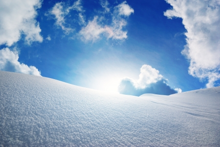 Snow hills. Composition of nature.  Stock Photo - 14040433