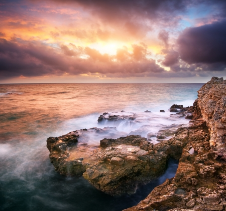 Beautiful seascape. Composition of nature. Stock Photo - 14790616