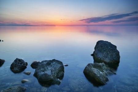 Beautiful seascape. Composition of nature.  Фото со стока