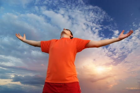 Man worship to God  Element of design   photo