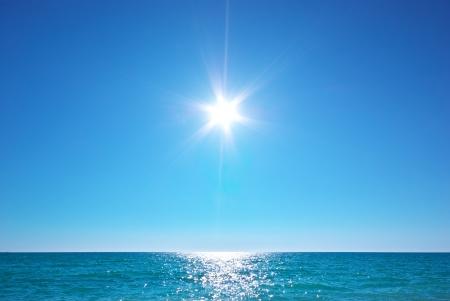 Horizon de la mer belle. Tranquil scene. Élément de conception