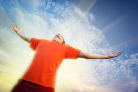 worship god: Man worship to God. Element of design.