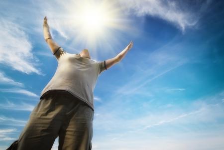 L'homme sur le ciel