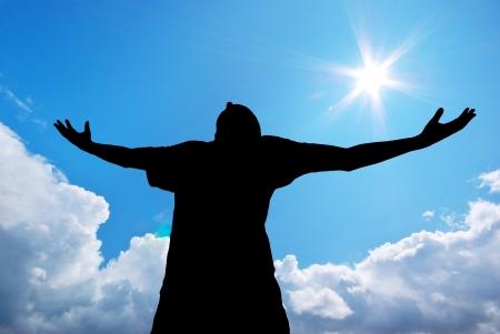 Man culte à Dieu Banque d'images