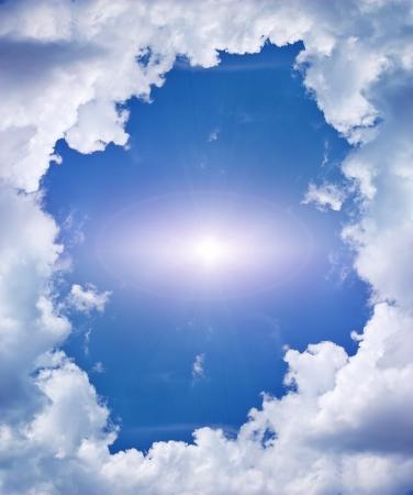 cielos abiertos: Sky fondo. Elemento de dise?o. Foto de archivo