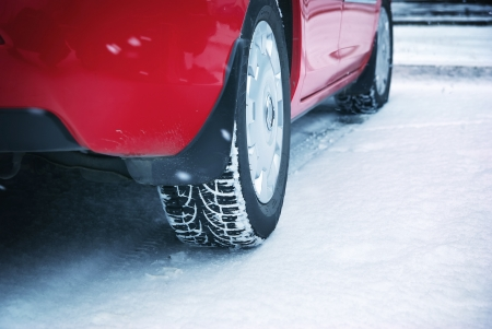 Driving: Winter tyres. Element of design.