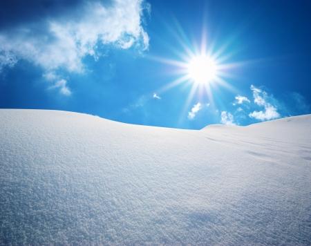 Snow hills. Composition of nature. Фото со стока - 20017164
