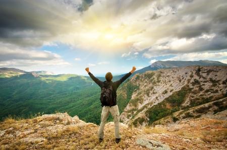 L'homme sur la montagne