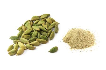 green powder: Cardamom isolated. Element of design.