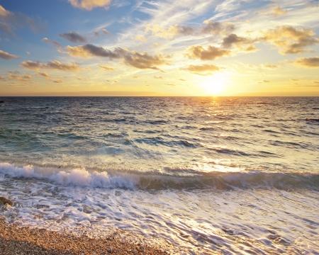 atlantic ocean: Beautiful seascape.Composition of nature. Stock Photo