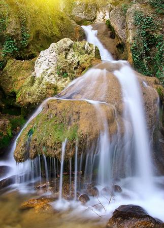 rill: Spring rill flow. Nature composition.