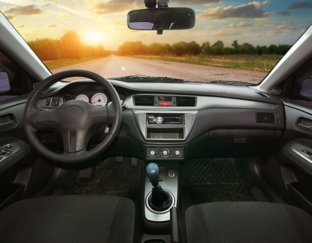 Reis in de auto. Ontwerp-element.