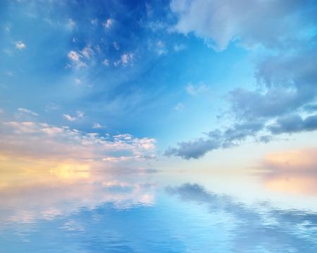 Sky background. Element of design. Standard-Bild