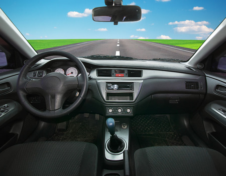 Voyage dans l'élément de la voiture de conception Éditoriale