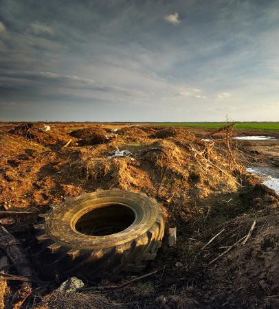 muddle: Ecology problem. Conceptual scene. Heap of rubbish. Stock Photo