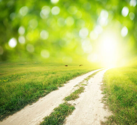 single lane road: Way to God. Conceptual design.