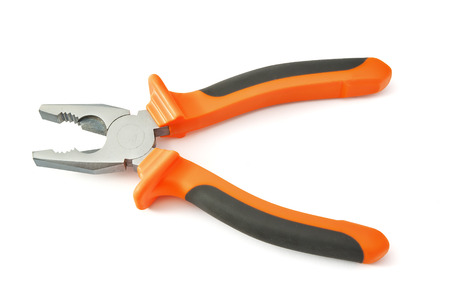combination: Combination pliers tool. Isolated object. Stock Photo