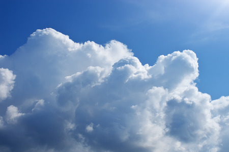 fluffy clouds: Blue skylight and fluffy cloud. Composition of nature. Stock Photo