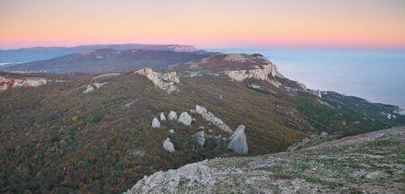 llanura: Mountain panorama landscape. Composition of nature.