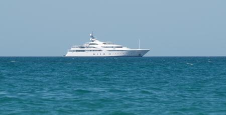 Yacht in ocean. Element of design. Standard-Bild - 111744826