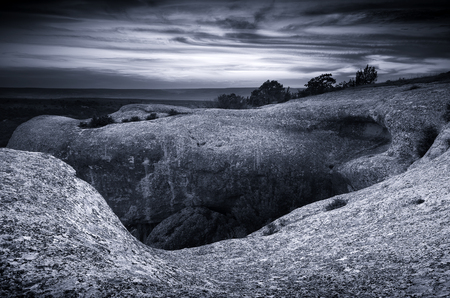 Mountain landscape. Art nature photography. Composition of nature.