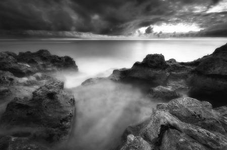 Beautiful art nature seascape. Storm on the sea.