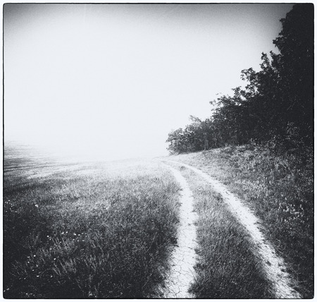 Lane to unknown . Art nature photography. Stock Photo