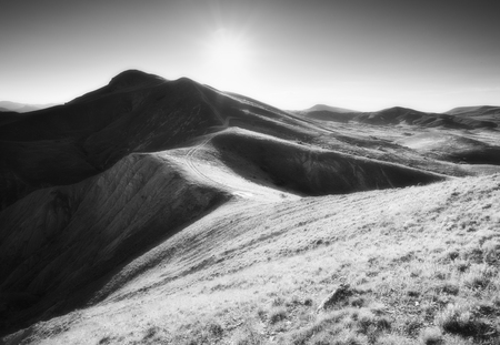 Art mountain landscape. Naturу composition. Stock Photo