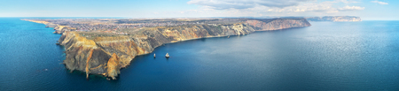 Sevastopol island. View from cape Fiolent. Aerial nature composition. Stock Photo