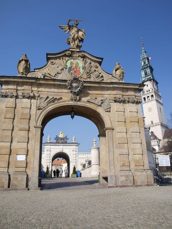 The gate to the shrine of Our Lady Queen of Polish Jasna Gora in Czestochowa