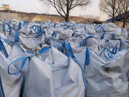 waste management: storage of waste and material in big bags