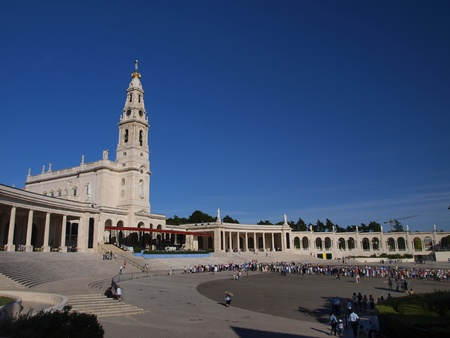 Rosary Basilica and square in the shrine at Fatima, Portugal