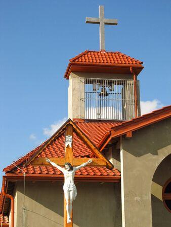 catholic chapel: building Catholic chapel in Dyrdy, parish Miotek in Poland