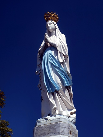 statue of the Virgin Mary in Lourdes, France photo