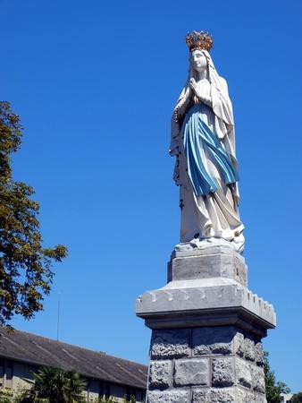 フランス、ルルドの聖母マリアの像 報道画像