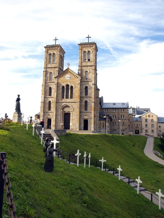 arrepentimiento: Santuario de La Salette en los Alpes franceses y la Casa del Peregrino