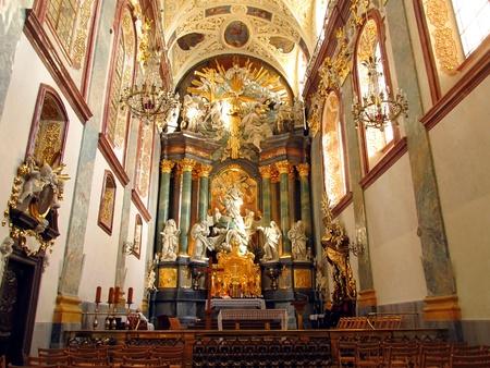 interior of the basilica in the spiritual center of Polish Jasna Gora in Czestochowa