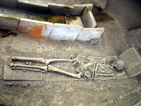 kostolac: fragments from the Roman era tombs in Viminacium in Serbia