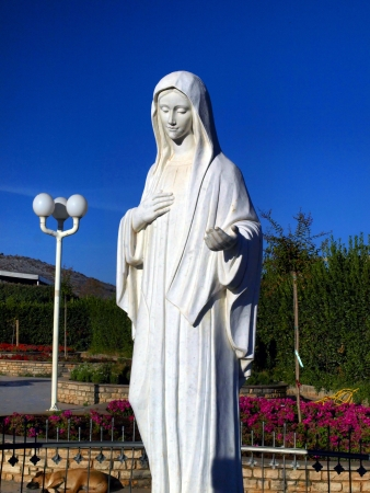 statue of Our Lady Queen of Peace of Medjugorje in Bosnia and Herzegovina Stock Photo
