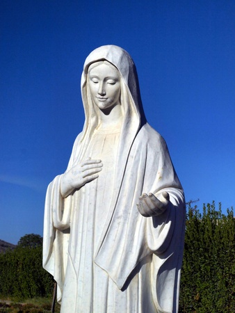 statue of Our Lady Queen of Peace of Medjugorje in Bosnia and Herzegovina photo