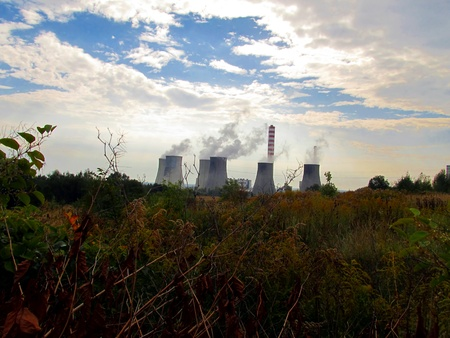 general view of the coal-fired power plants