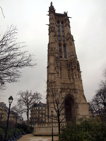 st jacques: Tower of St. Jacques in Paris. France