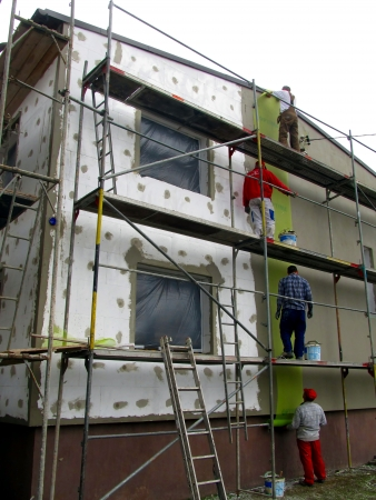 polystyrene: Thermal insulation of building walls with the use of polystyrene foam detached