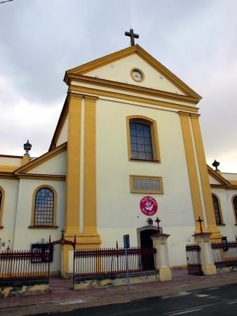 confessor: Church, monastery and shrine of the Capuchins in Nowe Miasto nad Pilica place in Poland, the death of Blessed Father Honorat Kozminski founder of many religious congregations Stock Photo